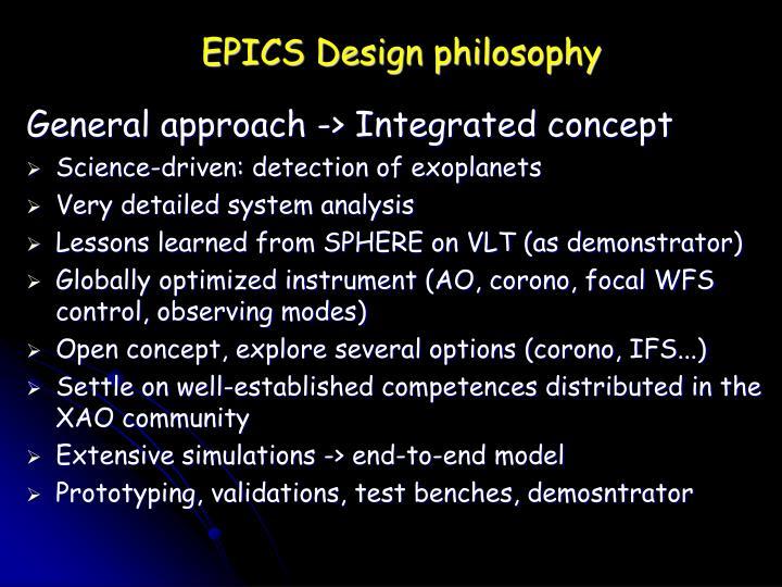 EPICS Design philosophy