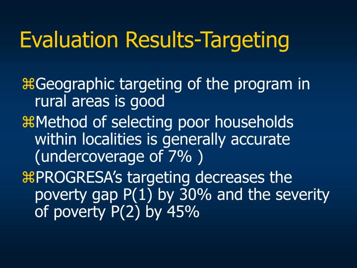 Evaluation Results-Targeting