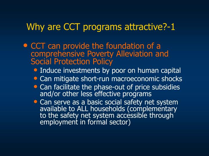 Why are cct programs attractive 1