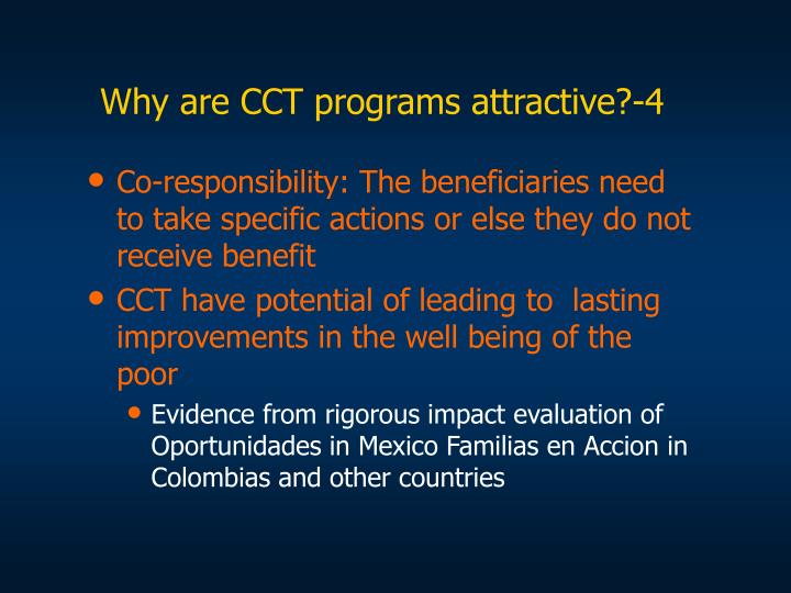 Why are CCT programs attractive?-4