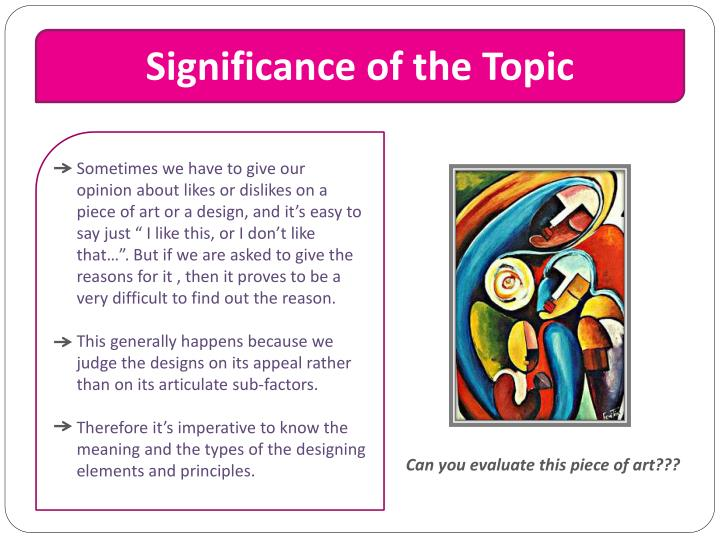 Significance of the topic