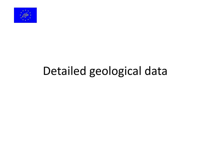 Detailed geological data