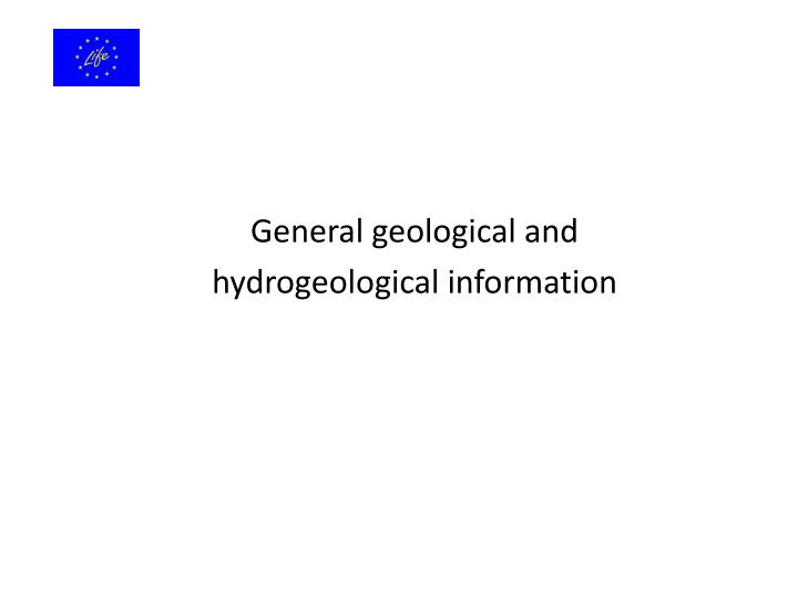 General geological and