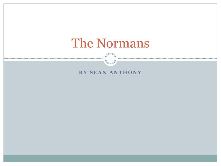 the normans n.