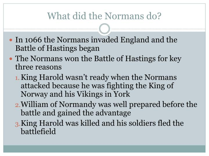 What did the normans do