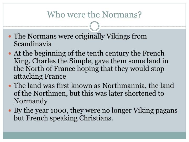 Who were the normans