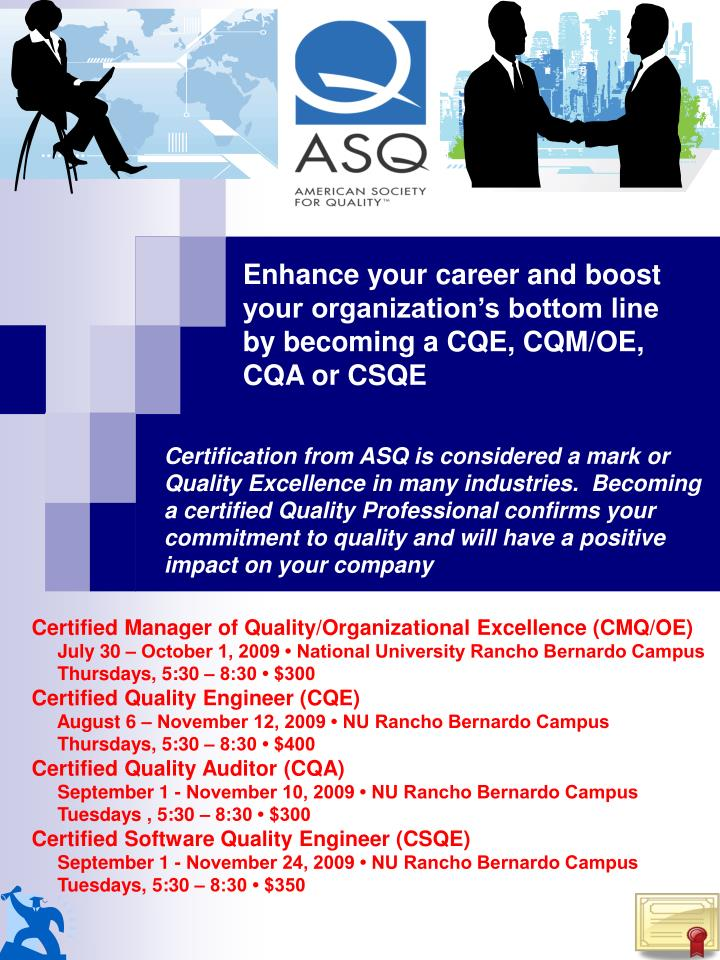 PPT - Certified Manager of Quality/Organizational Excellence (CMQ/OE ...