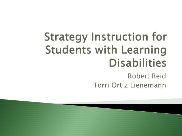 Ppt Strategy Instruction For Students With Learning Disabilities