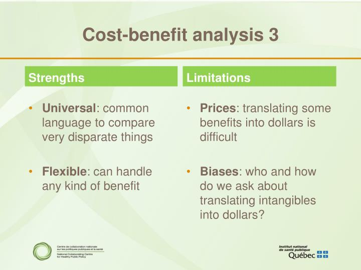 Cost-benefit analysis 3