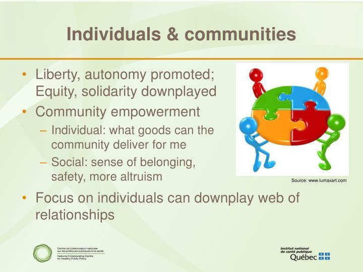 Individuals & communities