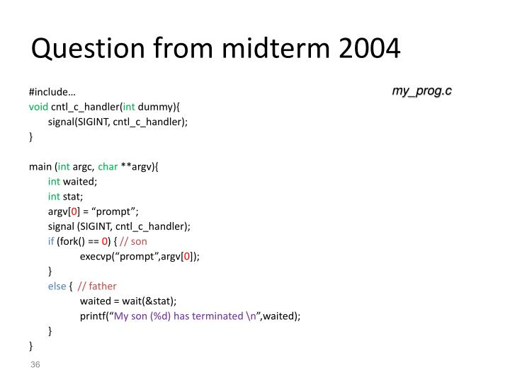 Question from midterm 2004