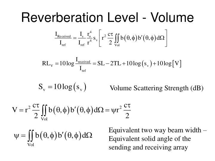 Reverberation level volume