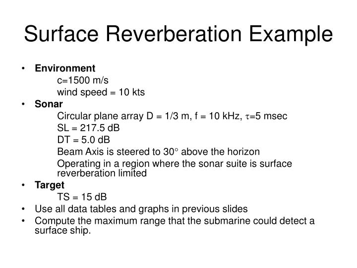 Surface Reverberation Example