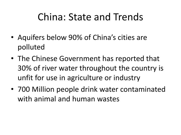 China: State and Trends