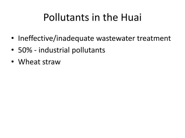 Pollutants in the