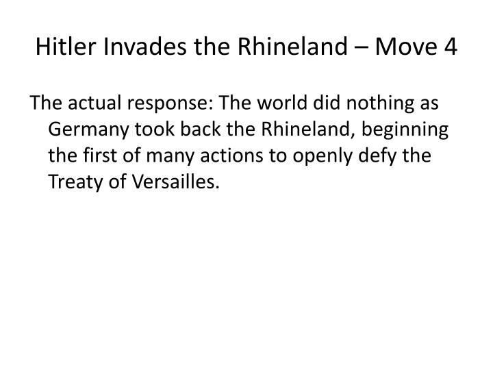 Hitler Invades the Rhineland – Move 4