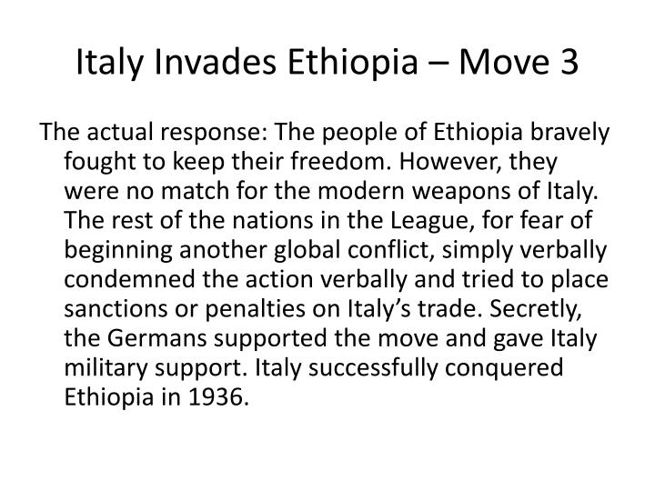 Italy Invades Ethiopia – Move 3