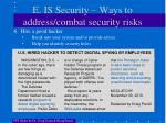 e is security ways to address combat security risks3