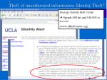theft of unauthorized information identity theft