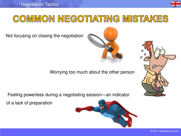 COMMON NEGOTIATING MISTAKES