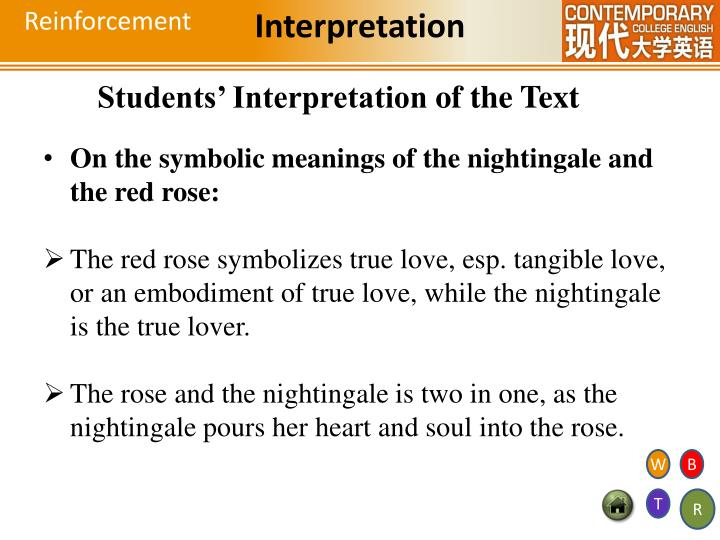the nightingale and the rose plot summary