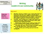 writing leaders in our community