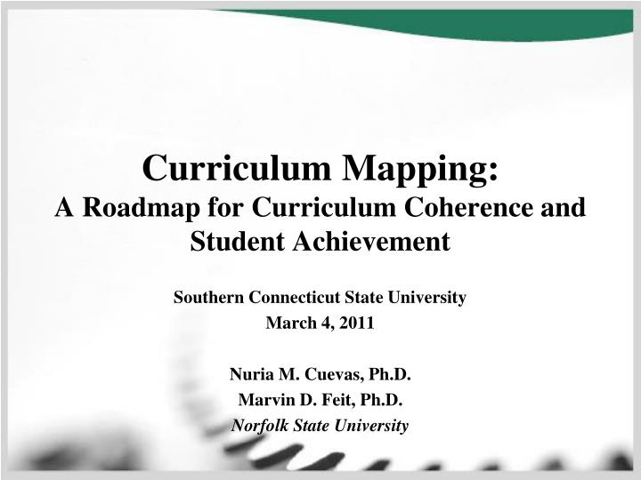 curriculum mapping a roadmap for curriculum coherence and student achievement n.
