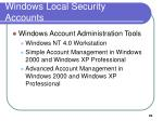 windows local security accounts