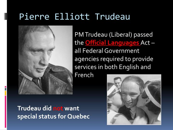 an essay on the federalism of pierre elliot trudeau and the french canadians