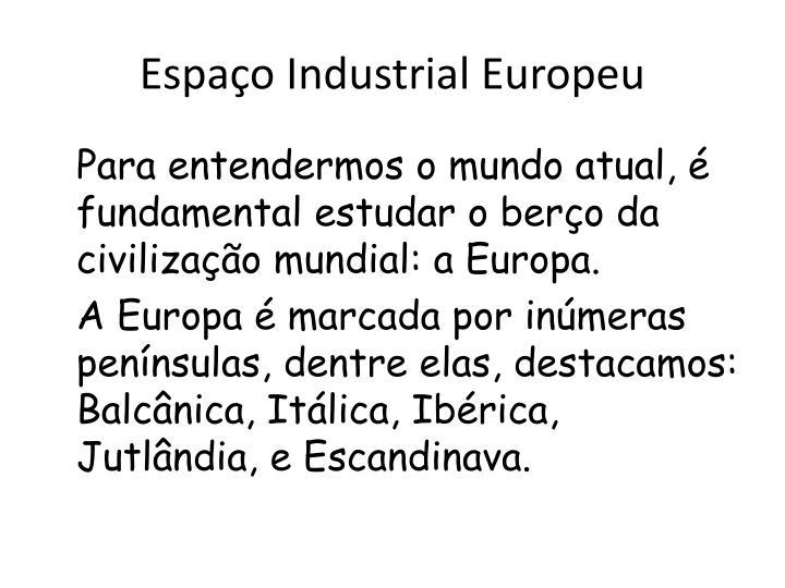 Espa o industrial europeu1