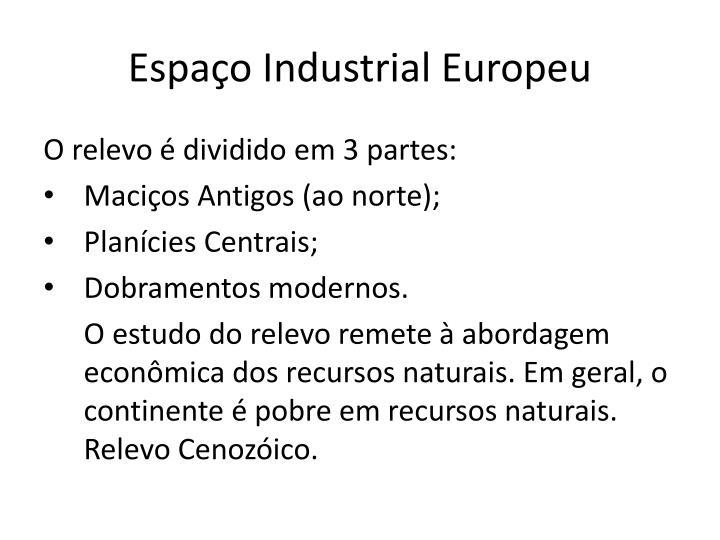 Espa o industrial europeu2