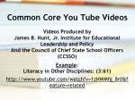 common core you tube videos