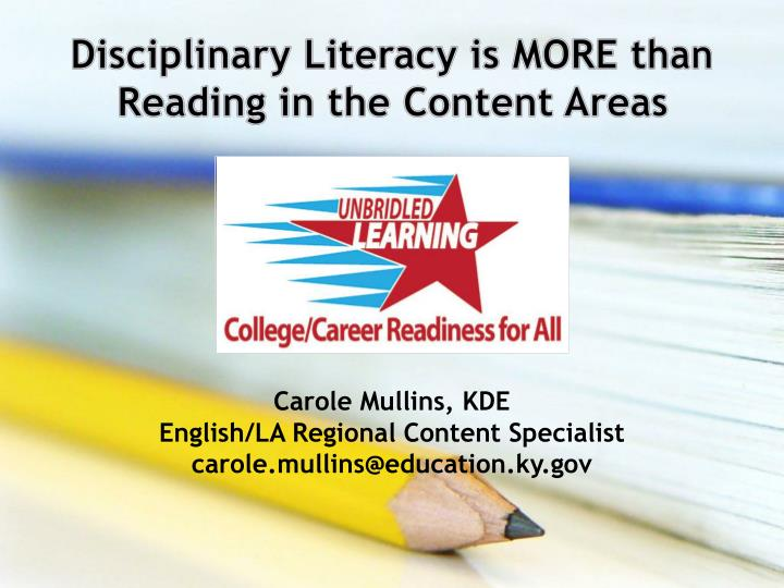 content area literacy Content literacy is the ability to read, write, create, interpret and present a range of media, in subjects such as science, social studies and mathematics it includes the use of informational text, that is, print and electronic media.