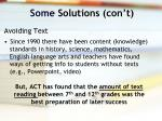 some solutions con t