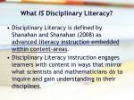 what is disciplinary literacy