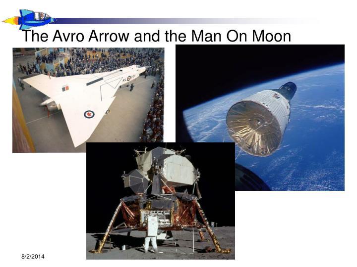 The avro arrow and the man on moon