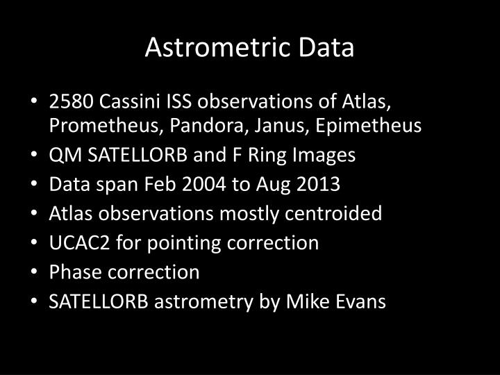 Astrometric data