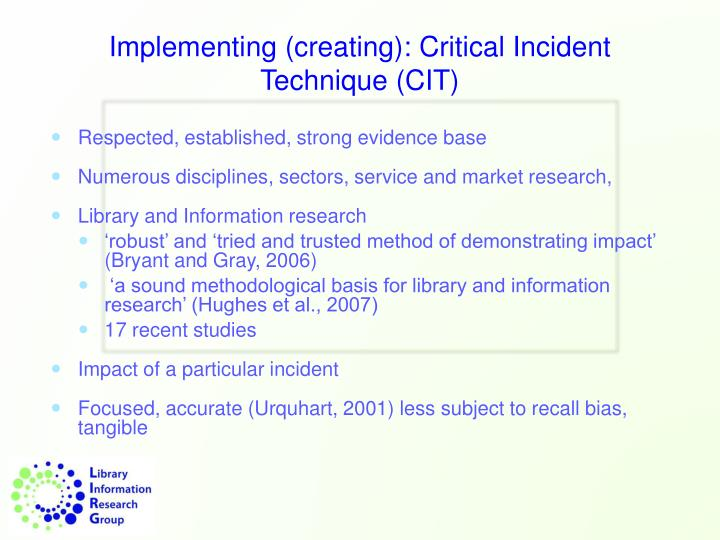 Implementing (creating):