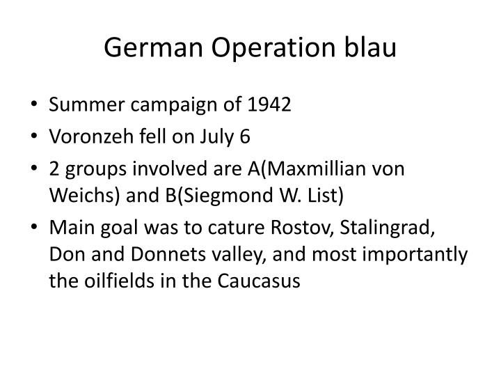 German Operation