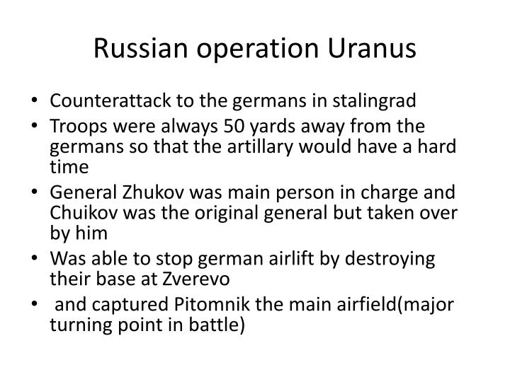 Russian operation Uranus