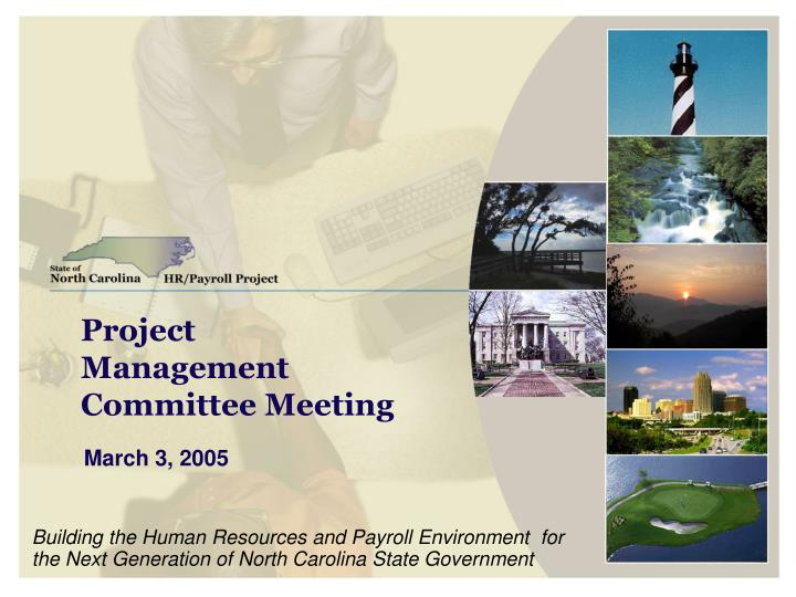 project management committee meeting n.