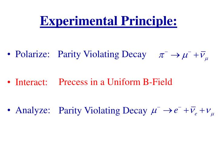 Experimental Principle: