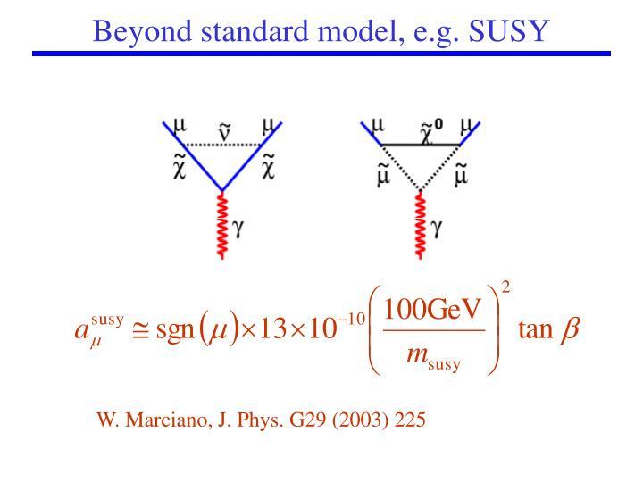 Beyond standard model, e.g. SUSY