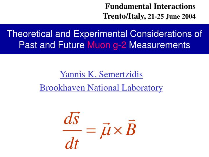 Theoretical and experimental considerations of past and future muon g 2 measurements