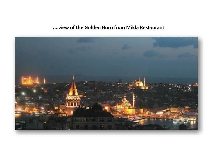 ....view of the Golden Horn from Mikla Restaurant