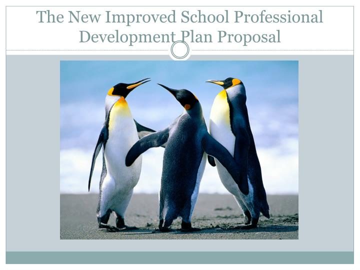 the new improved school professional development plan proposal n.