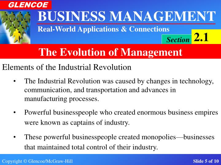 Elements of the Industrial Revolution