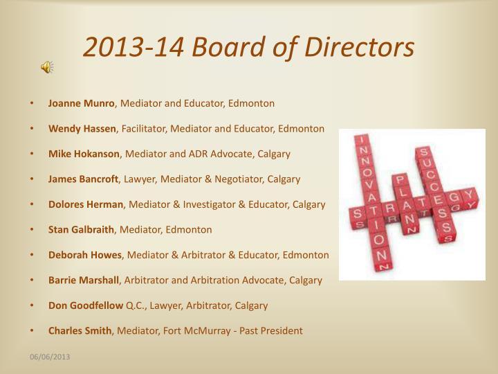 2013 14 board of directors