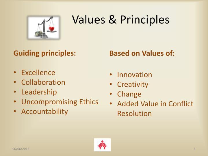 Values & Principles