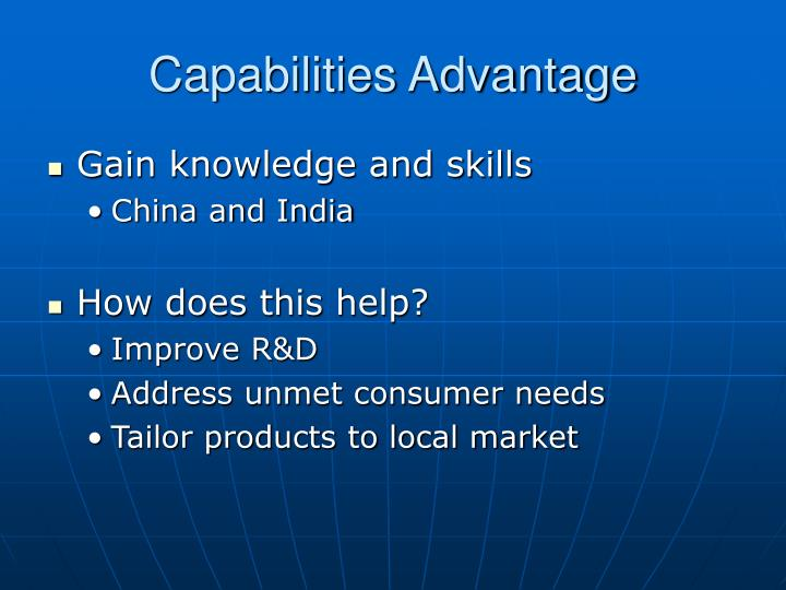 Capabilities Advantage